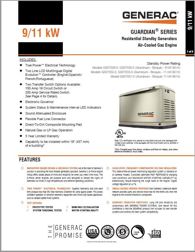 Generac 9/11 kW